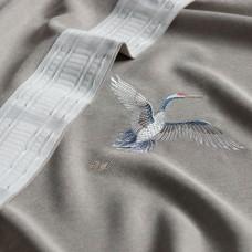 """Комплект штор  """"Амели"""" 03 с вышивкой. Серый"""