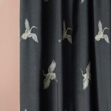 """Комплект штор  """"Амели"""" 04 с вышивкой. Мокрый асфальт"""