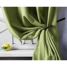 """Комплект штор  """"Поттер"""" 04 с вышивкой. Цвет зеленый"""