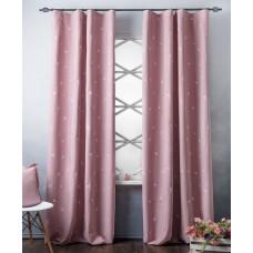 """Комплект штор  """"Тайм"""" 02 с вышивкой розовые"""