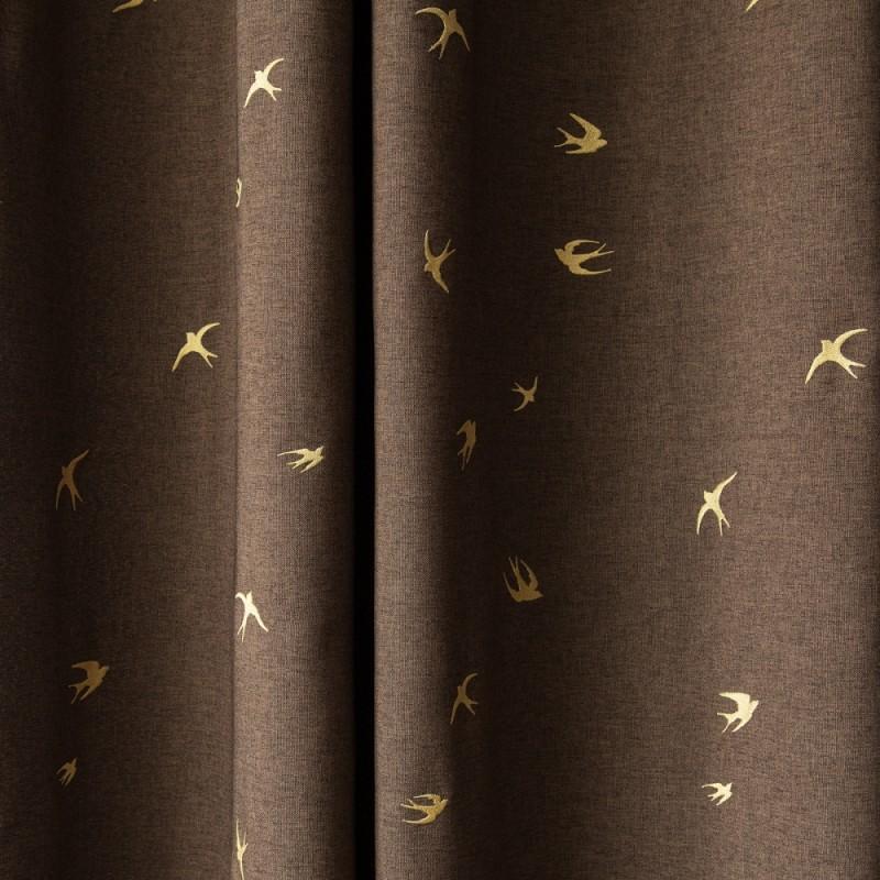 """Комплект штор  """"Тайм"""" 06 с вышивкой шоколадный"""
