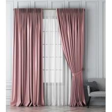 """Комплект штор  """"Шатака"""" 02 розовый с вуалью"""